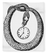 Pocket Watch, 19th Century Fleece Blanket
