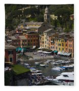 Portofino In The Italian Riviera In Liguria Italy Fleece Blanket