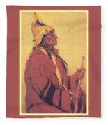 Portrait Of Billjones Joseph Henry Sharp Fleece Blanket