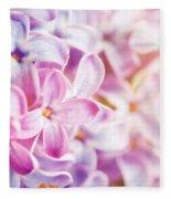 Purple Spring Lilac Flowers Blooming Close-up Fleece Blanket