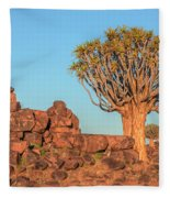 Quiver Tree Forest - Namibia Fleece Blanket