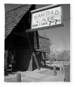 Route 66 - Bagdad Cafe Fleece Blanket