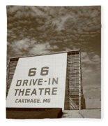 Route 66 Drive-in Theatre Fleece Blanket