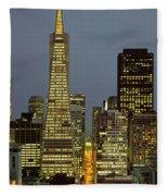 San Francisco Ca Fleece Blanket