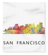 San Francisco California Skyline Fleece Blanket