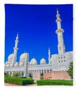 Sheikh Zayed Grand Mosque Fleece Blanket
