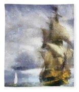 Ships Ahoy Fleece Blanket