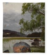Shore Landscape Fleece Blanket