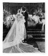Silent Film Still: Wedding Fleece Blanket