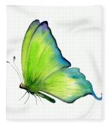 4 Skip Green Butterfly Fleece Blanket