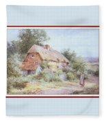 Stannardhenryjohnsylvester Girllookingatacottage-we F018 Henry  Sylvester Stannard Fleece Blanket