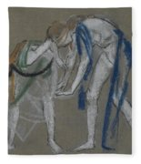 Study Of Two Dancers Fleece Blanket
