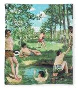 Summer Scene  Fleece Blanket
