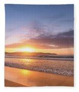 Sunrise Seascape At The Beach Fleece Blanket