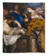 The Burial Of Christ Fleece Blanket