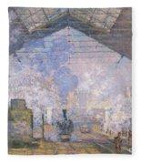 The Gare St Lazare Fleece Blanket
