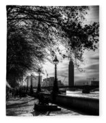 The River Thames Path Fleece Blanket