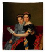 The Sisters Zenaide And Charlotte Bonaparte Fleece Blanket