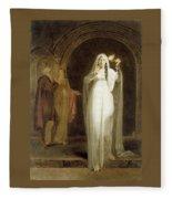 The Sleepwalking Scene Act V Scene I From Macbeth Henry Pierce Bone Fleece Blanket