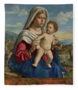The Virgin And Child Fleece Blanket