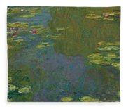 The Waterlily Pond Fleece Blanket