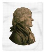 Thomas Jefferson Profile Fleece Blanket