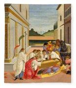 Three Miracles Of Saint Zenobius Fleece Blanket