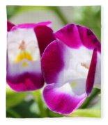Torenia Named Kauai Magenta Fleece Blanket