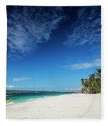 Traditional Filipino Ferry Taxi Tour Boats Puka Beach Boracay Ph Fleece Blanket