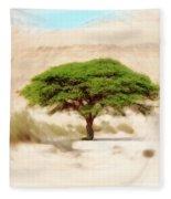 Umbrella Thorn Acacia Acacia Tortilis, Negev Israel Fleece Blanket