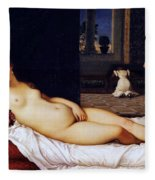 Venus Of Urbino Fleece Blanket