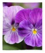 Viola Named Columbine Fleece Blanket