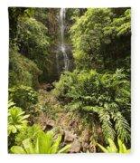Wailua Falls Fleece Blanket