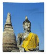 Wat Mahathat Fleece Blanket