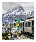 White Pass Mountains In British Columbia Fleece Blanket