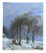 Winterlandschap Fleece Blanket