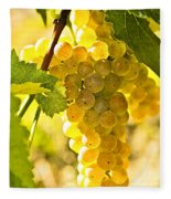 Yellow Grapes Fleece Blanket