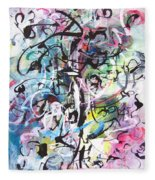 Abstract Expressionsim Art Fleece Blanket