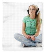 Headphones Fleece Blanket