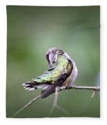 4864-002 - Ruby-throated Hummingbird Fleece Blanket