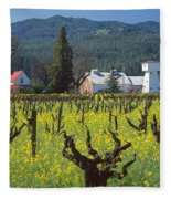 4b6394 Mustard In The Vineyards Fleece Blanket