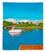 4x1 Downtown Tampa Panorama Fleece Blanket