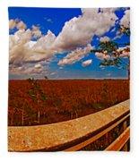 4x1 Everglades Panorama Number Two Fleece Blanket