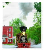 A President's Funeral Train - 3435 Fleece Blanket