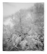 Abstract Scenes At Ski Resort During Snow Storm Fleece Blanket