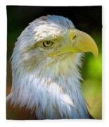 American Bald Eagle Fleece Blanket