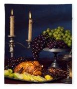 Artistic Food Still Life Fleece Blanket