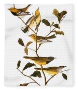 Audubon: Warbler Fleece Blanket