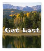 Autumn Aspen At Crystal Creek Reservoir Pikes Peak Fleece Blanket