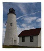 Bakers Island Lighthouse Salem Fleece Blanket